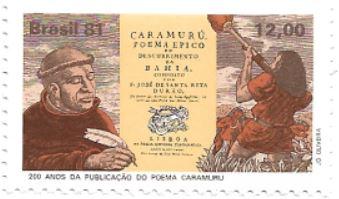 Selo Bicentenário do Poema Caramuru