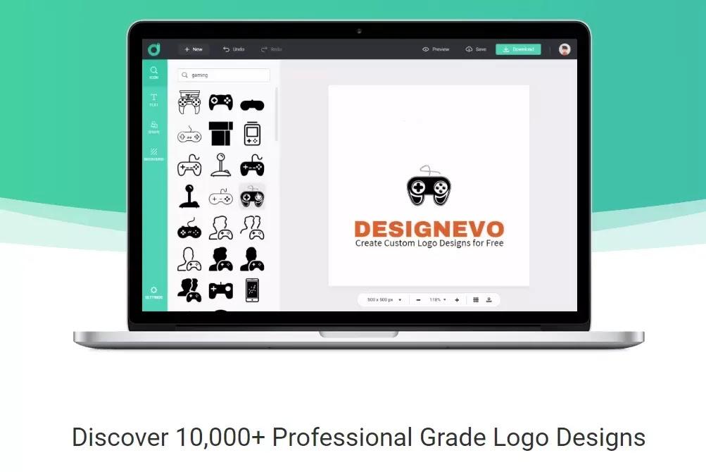 DesignEvo - إنشاء شعارات مذهلة عبر الإنترنت