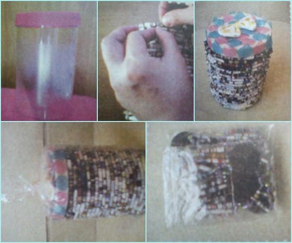 Kerajinan wadah serbaguna dari stoples bekas