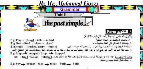 مذكرة قواعد اللغة الانجليزية للصف الثالث الثانوي 2019 مستر محمد فوزي