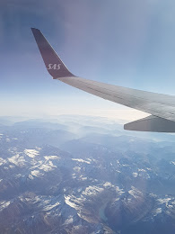 Flying over the Alpes on our way to MILAN....ITALY.