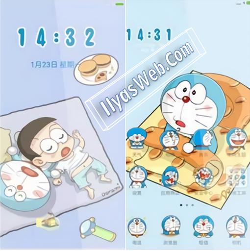 kamu lagi mencari tema doraemon lucu kan Tema Doraemon Lucu Terbaru Untuk Android Xiaomi