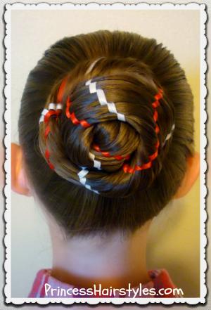 Phenomenal 4Th Of July Hairstyles Aztec Carousel Braid Ponytail And Bun Short Hairstyles Gunalazisus