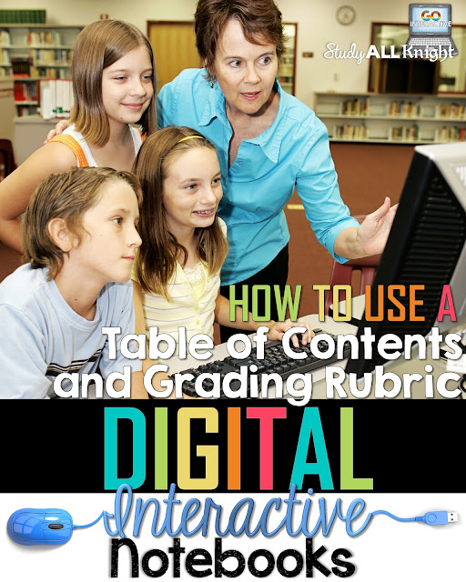 If your digital interactive notebooks need to be more organized, this set of directions for creating a digital table of contents is going to be a HUGE help! Students in your 4th, 5th, 6th, 7th, 8th, 9th, 10th, 11th, and 12th grade classes will all benefit from this easy five step seet of directions. Click through to get the details!