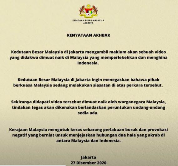 Hina Indonesia, Begini pernyataan heboh kedubes Malaysia