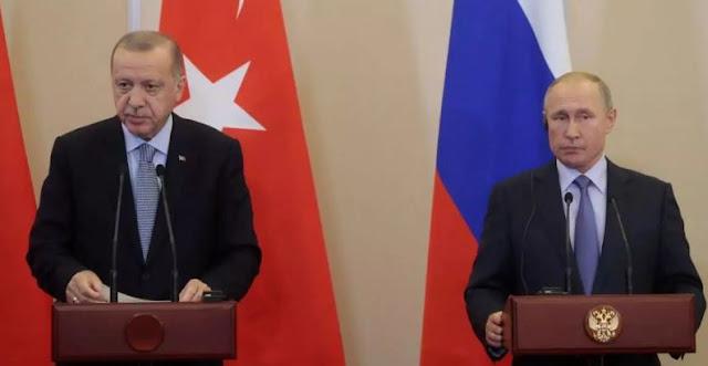 Russia's Putin, Turkey's Erdogan declare position on war