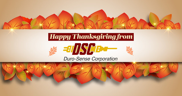 Happy Thanksgiving from Duro-Sense Corporation