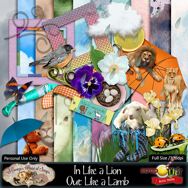 "March Scrap Twist Blogtrain - ""In Like a Lion Out Like a Lamb"""