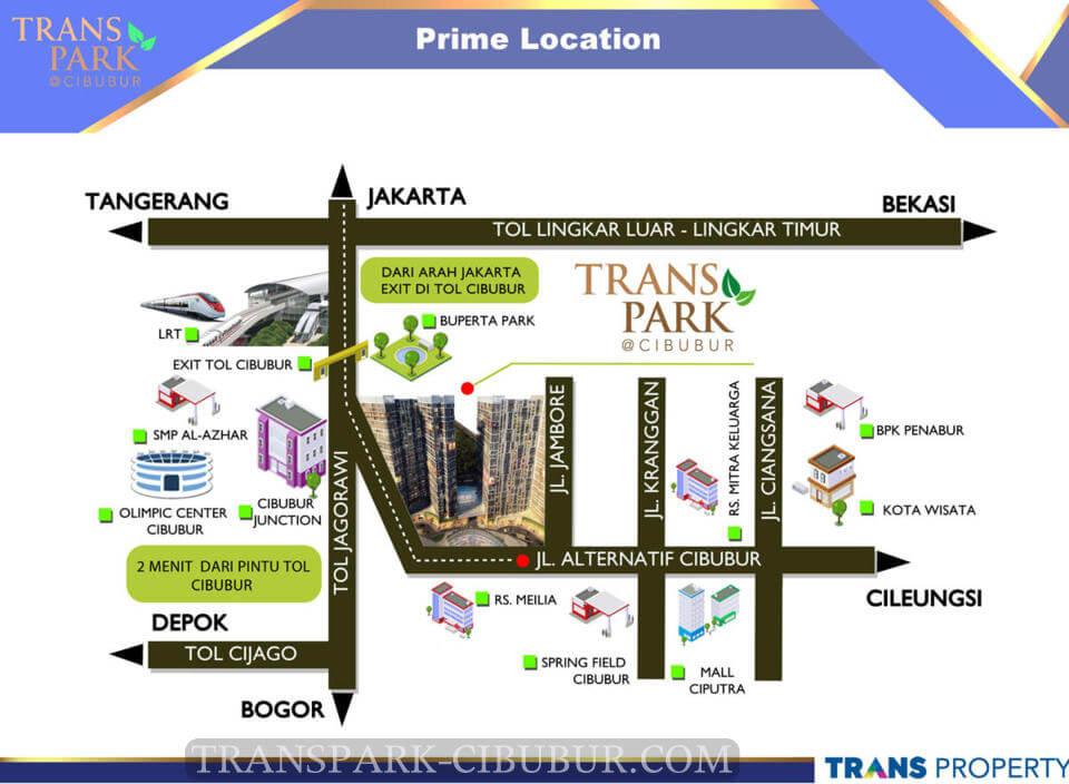 Peta Lokasi TransPark Cibubur