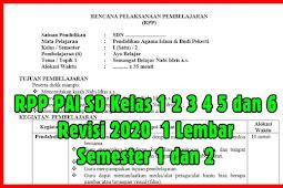RPP PAI SD Kelas 1 2 3 4 5 dan 6 Revisi 2020  1 Lembar Semester 1 dan 2