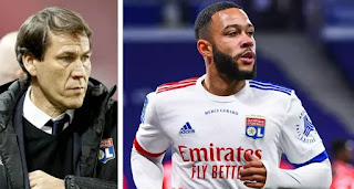 Lyon coach Rudi Garcia confirms they will lose Depay for free next summer