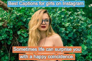 Best Captions for girls on Instagram