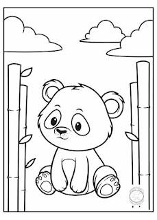 animales bebé para colorear oso