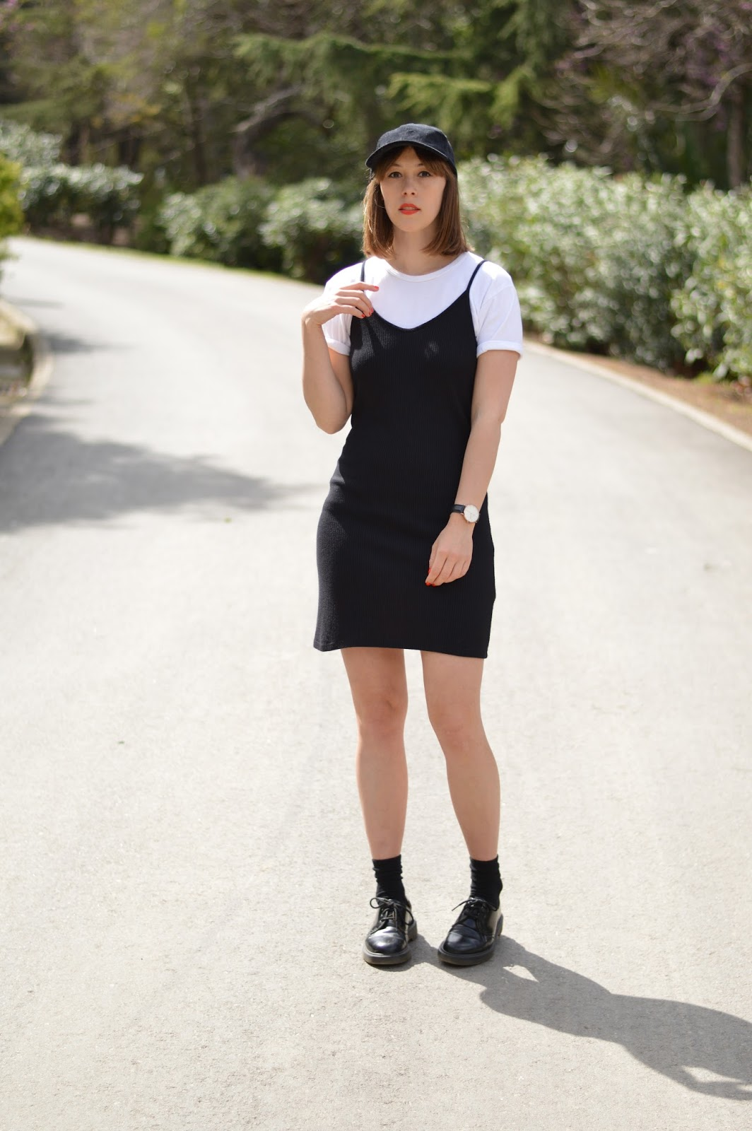 How to wear a slip dress in spring