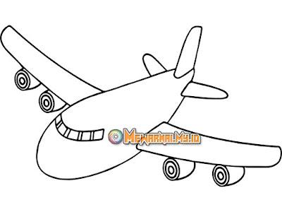 Gambar Mewarnai Kendaraan Udara