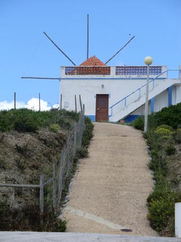 Windmills in Algarve Portugal.