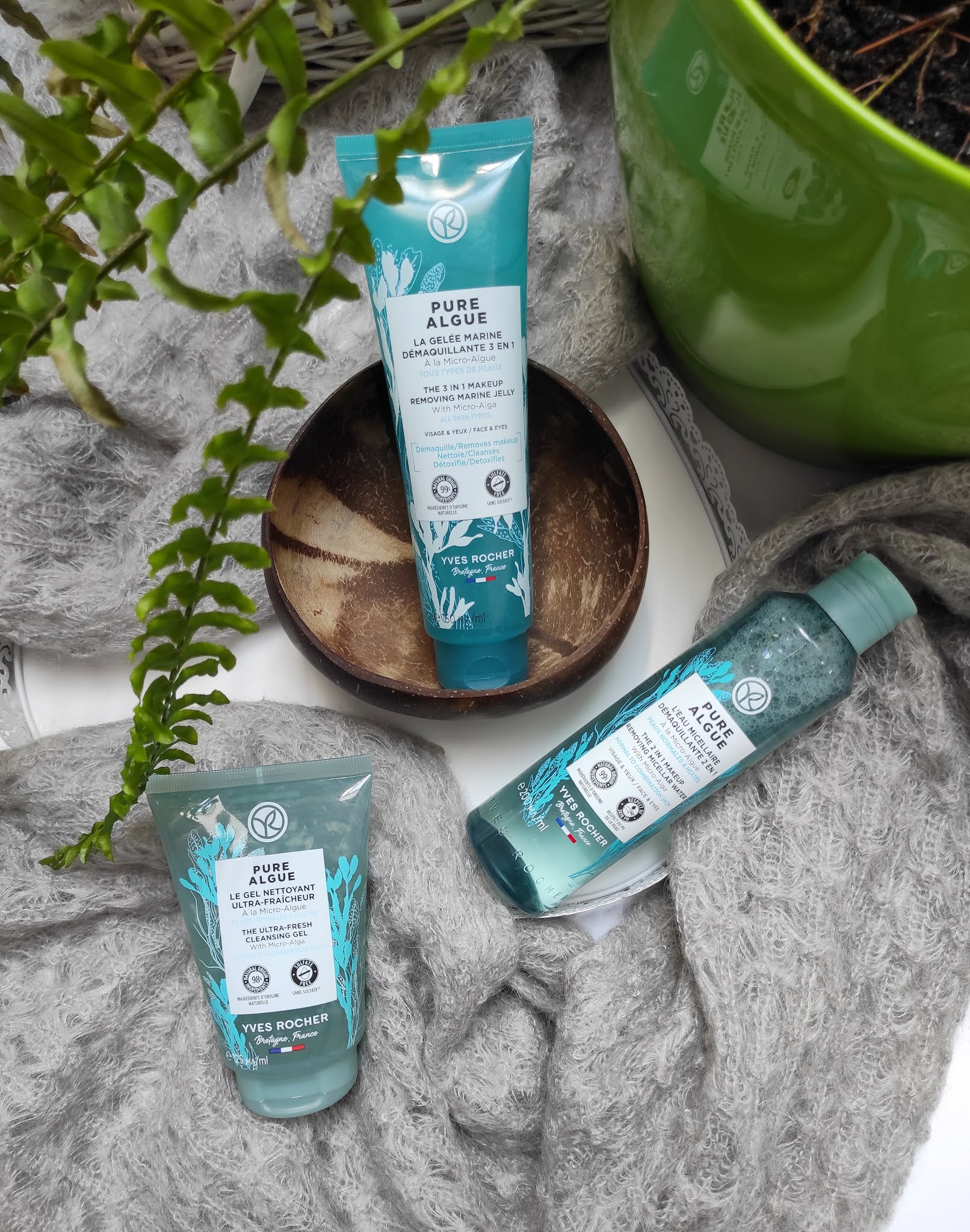 Pure Algue - kosmetyki do demakijażu i oczyszczania twarzy  Yves Rocher - recenzja