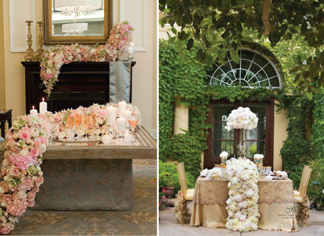 Pink Feathers Falling Wallpaper Wedding Trends Cascading Flowers Belle The Magazine