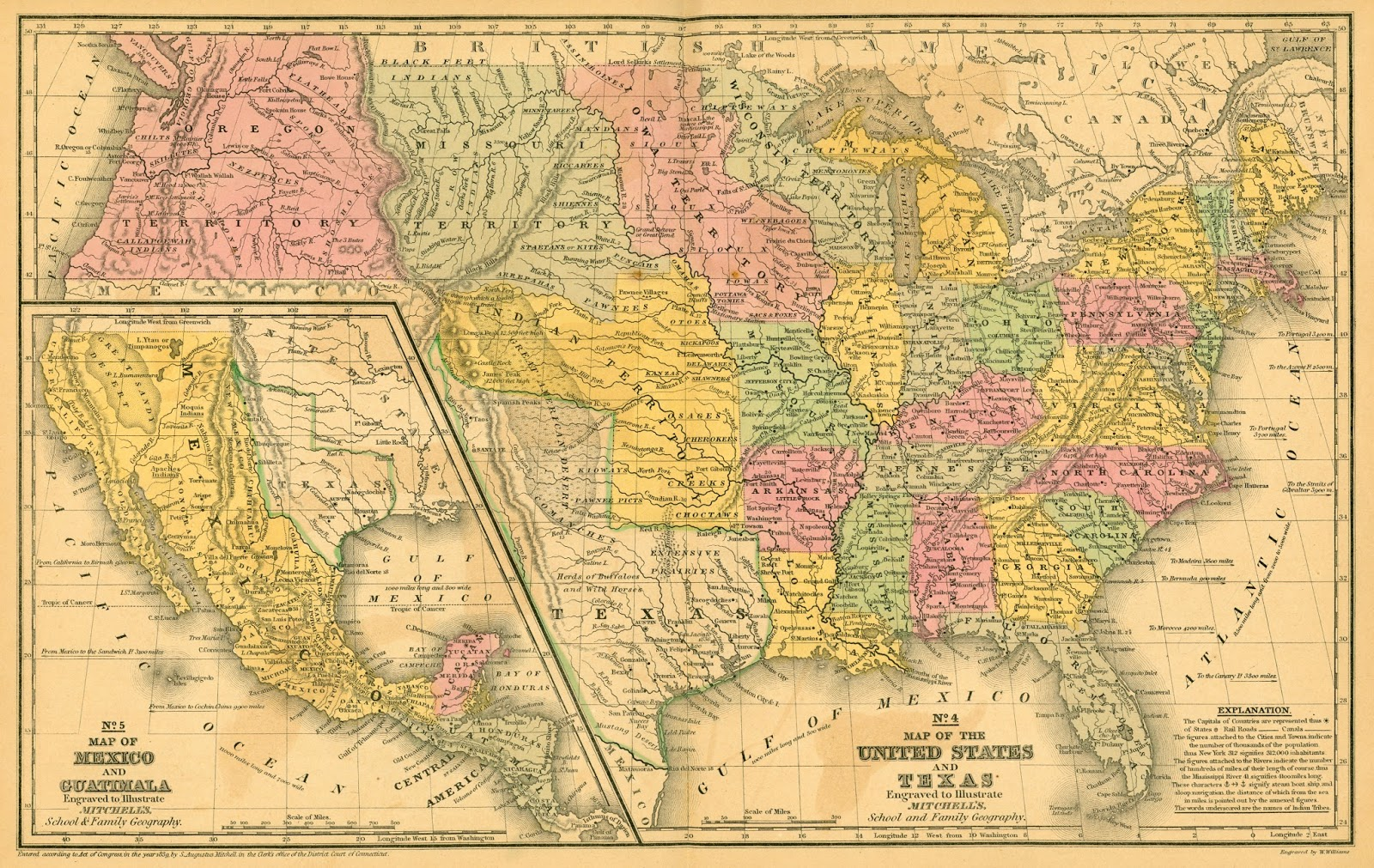 Map of the USA (1839)