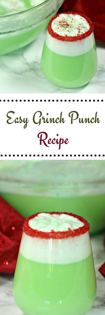 Easy Grinch Punch Recipe #drink #recipe