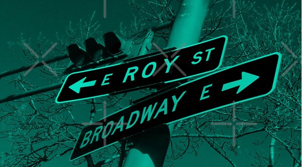 Roy Street & Broadway, Seattle, Washington by Mistah Wilson