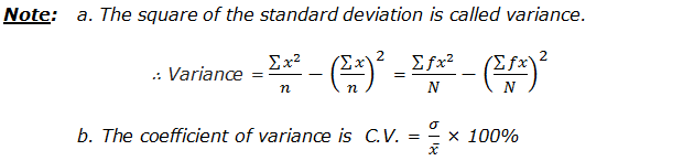 Variance and Coefficient of Variance
