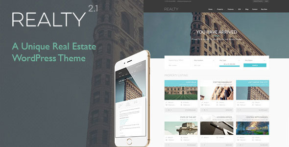 Free Download Realty V2.1 Unique Real Estate WordPress Theme
