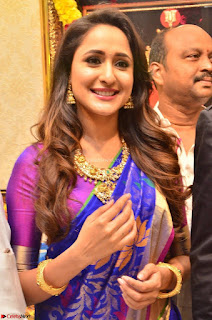 Pragya Jaiswal in colorful Saree looks stunning at inauguration of South India Shopping Mall at Madinaguda ~ Exclusive Celebrities Galleries 002