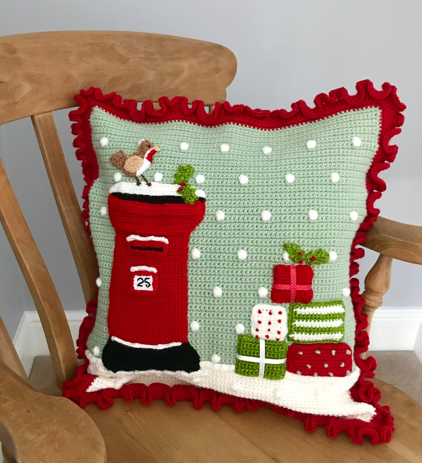 Christmas Post Box cushion