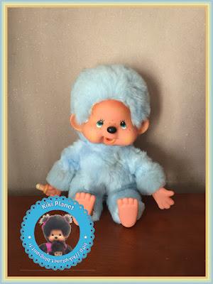 kiki colori couleur bleu pale ciel vif vintage blue monchhichi neuf extraordinaire