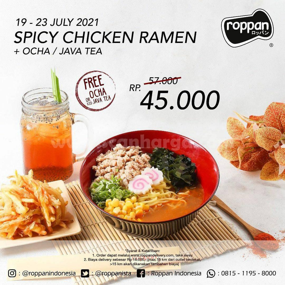 Roppan Promo Spicy Chicken Ramen harga spesial hanya Rp. 45.000