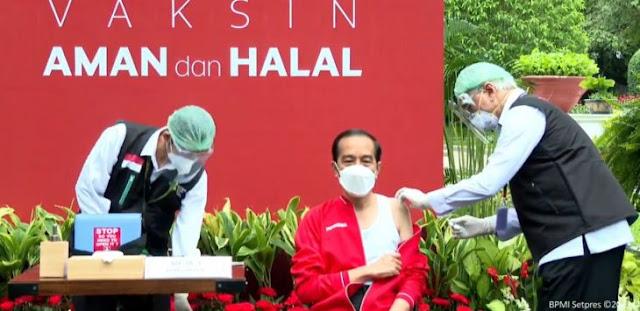 Jokowi Disuntik Vaksin Covid-19 Dosis Kedua: Tidak Terasa