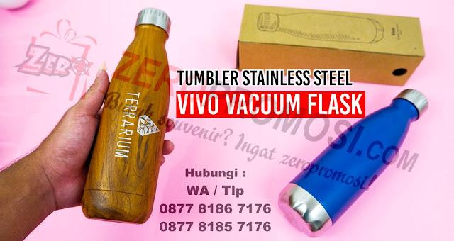 Botol Tumbler vivo, Botol Minum/ Souvenir Tumbler Vivo, Jual Souvenir Tumbler Stainless Steel Vivo Vacuum Flask