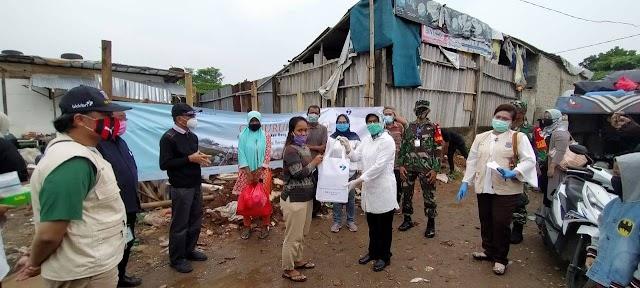 Kedeputian ADPIN BKKBN Pusat Bantu Korban Kebakaran Pondok Aren Kota Tangsel