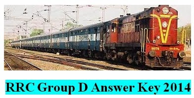 RRC Group DF Answer Key 2014