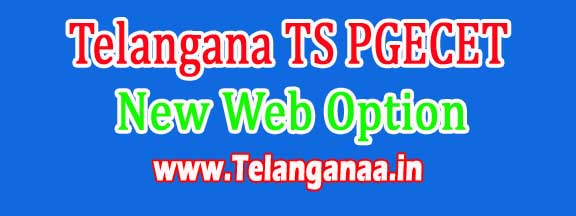 Telangana TS PGECET New Web Option Dates 2016
