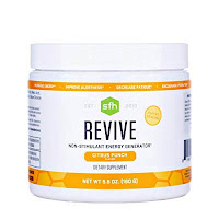 SFH Revive | Non Stimulant Natural Energy Drink | Supports Hydration, Alertness, Energy, Reduce Fatigue | CoQ10, Ribose, N-Acetyl L-Carnitine | 5.6oz | 20 Servings (Citrus Punch)