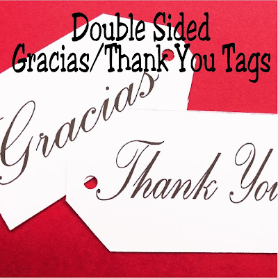 Say thank you in English and Spanish with this double sided thank you tag perfect for your gift giving any time of the year.  Simply print one side, then the other, and cut for the perfect double sided printable thank you tag.