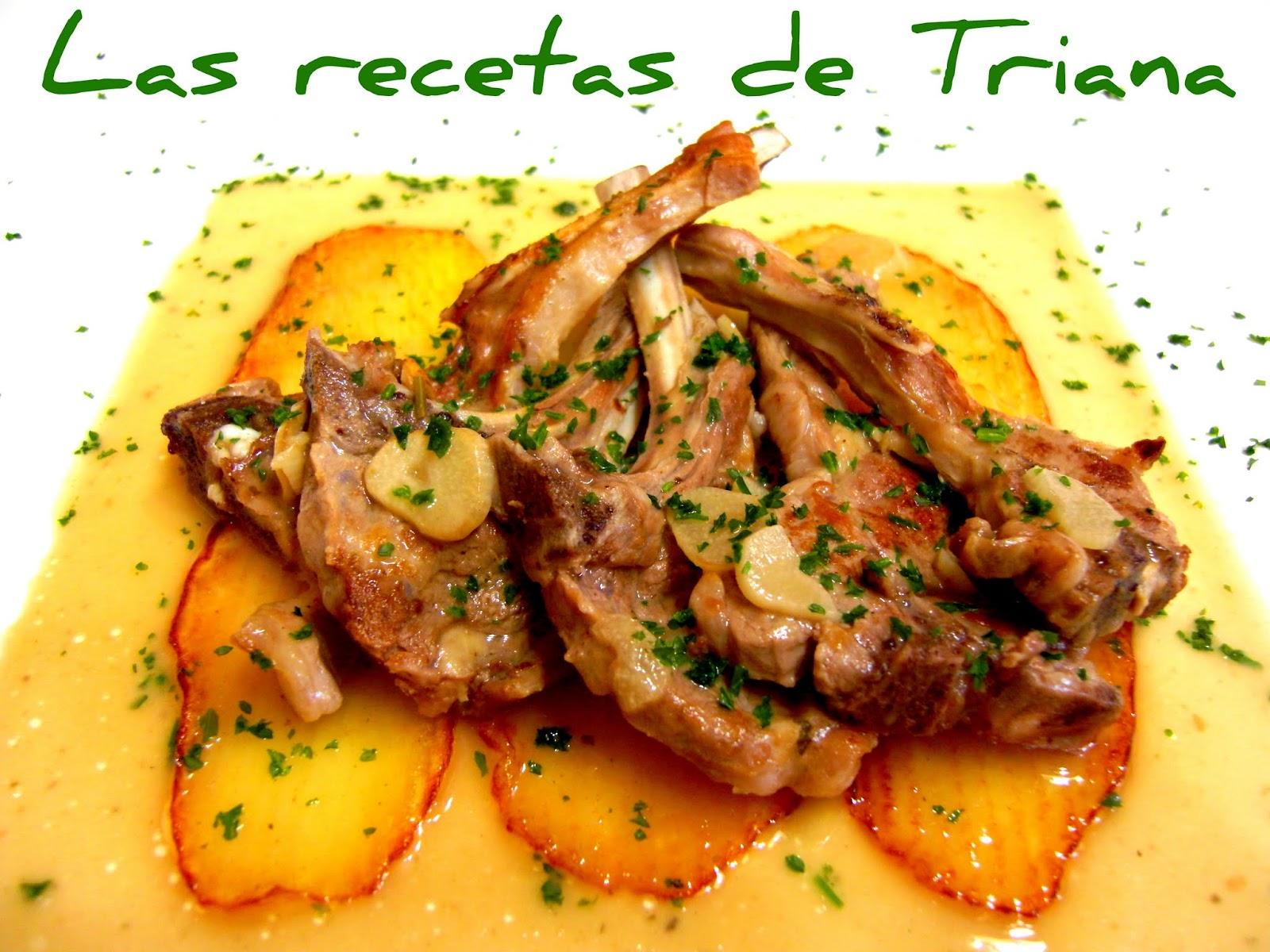 Chuletillas De Cordero Lechal Al Ajillo Las Recetas De Triana