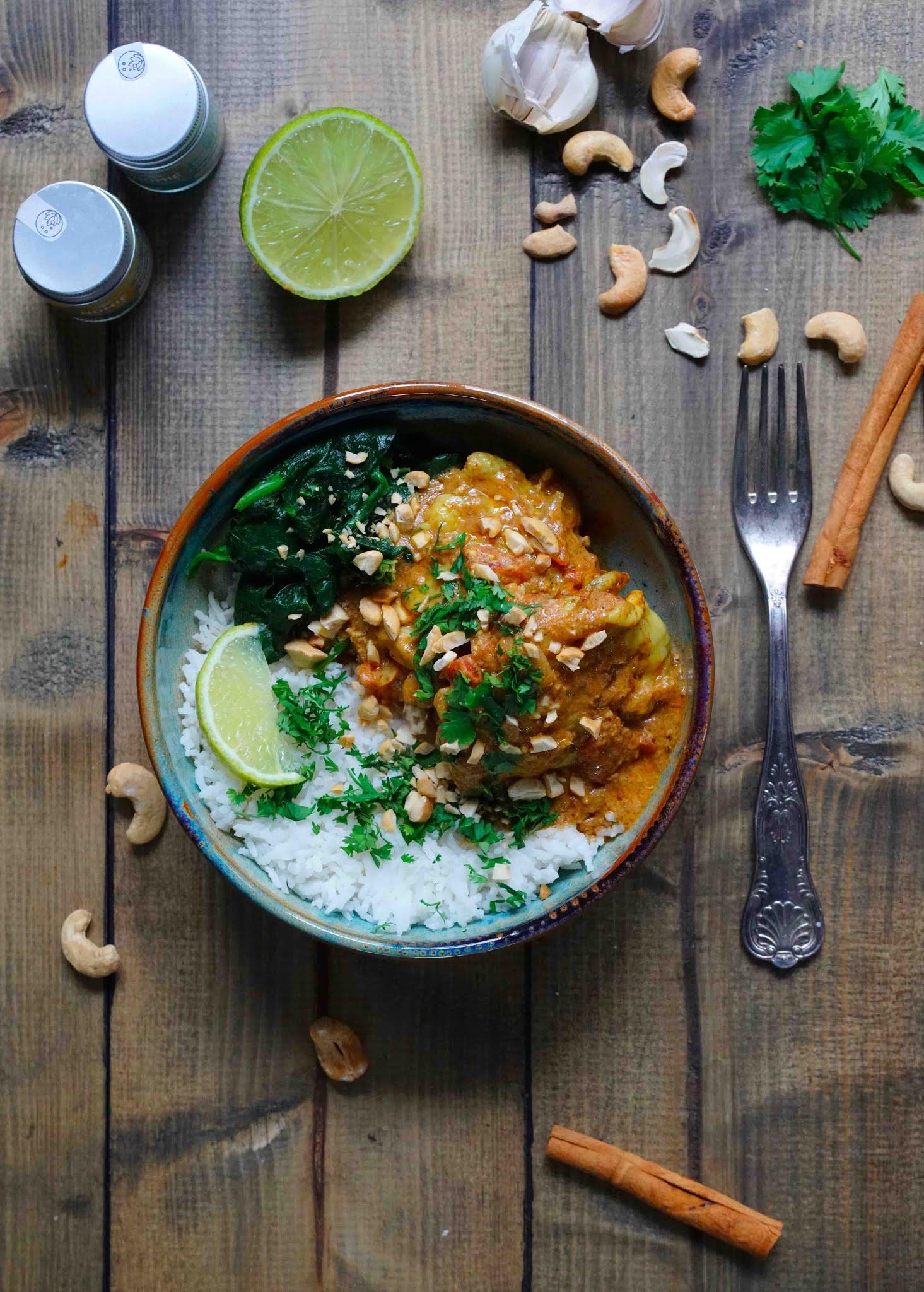 plat indien , poulet aux épices