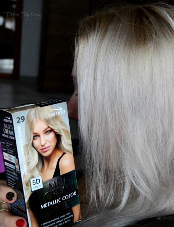Domowa koloryzacja Joanna Multi Cream Metallic Color Bardzo Jasny Śnieżny Blond