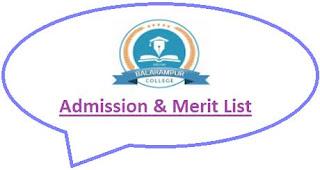 Balarampur College Merit List