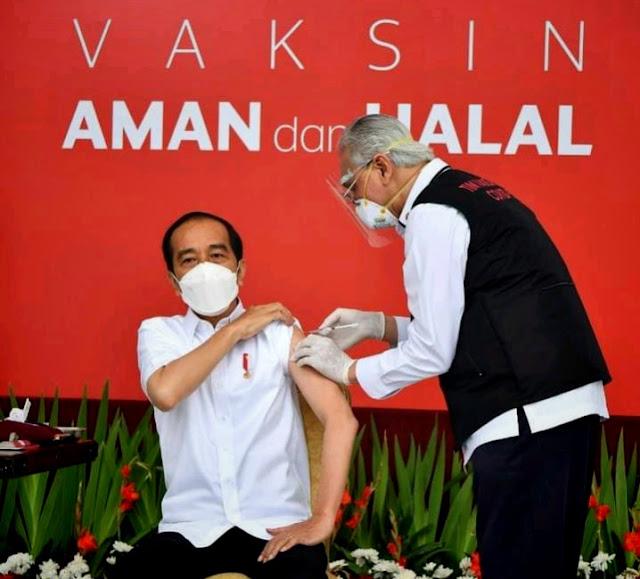 Breaking news: Presiden Jokowi Terima Suntikan Dosis Pertama Vaksin