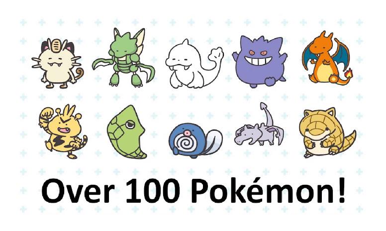 Pokémon Smile Pokémon Disponíveis