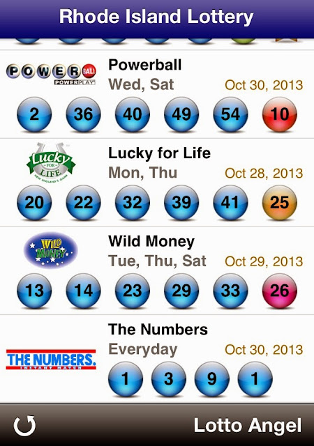 USA Rhode Island Lottery Results (Oct 30, 2013)