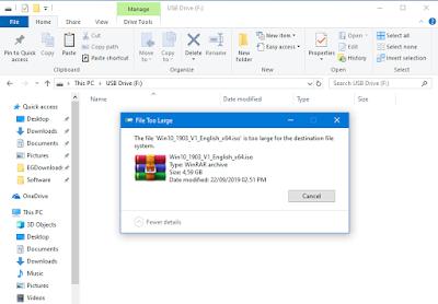 tidak bisa copy file besar ke flashdisk