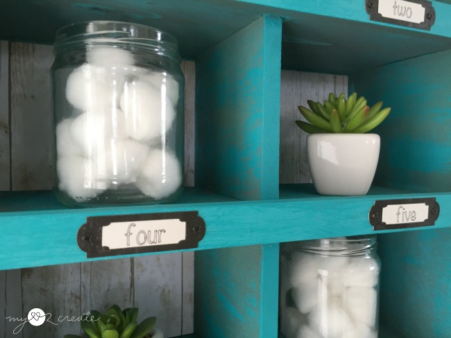 Cubby organizer made from drawers, MyLove2Create