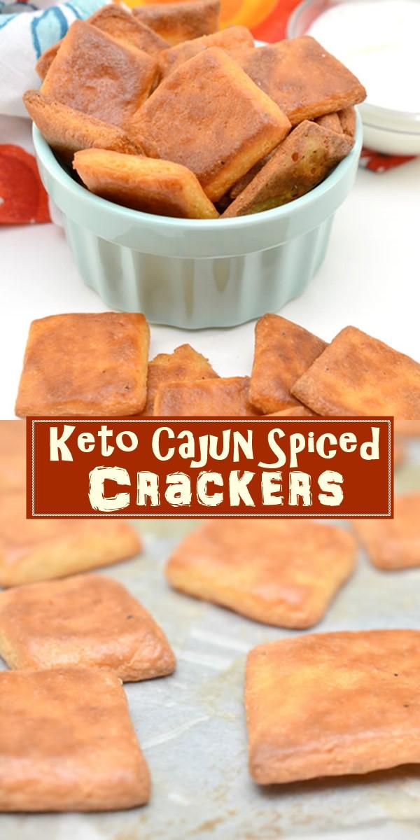 Keto Cajun Spiced Crackers #Appetizerrecipes