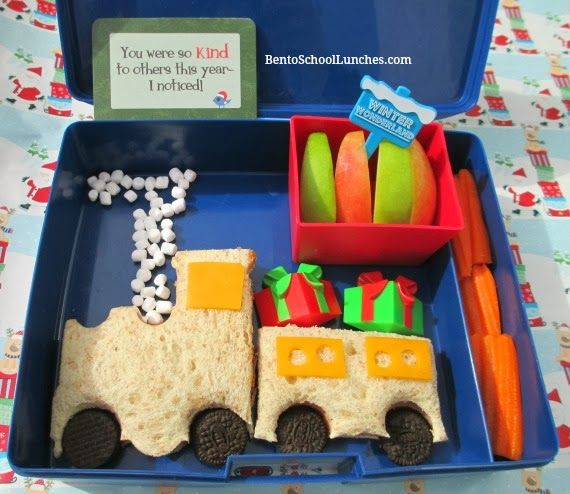 The Polar Express bento lunch
