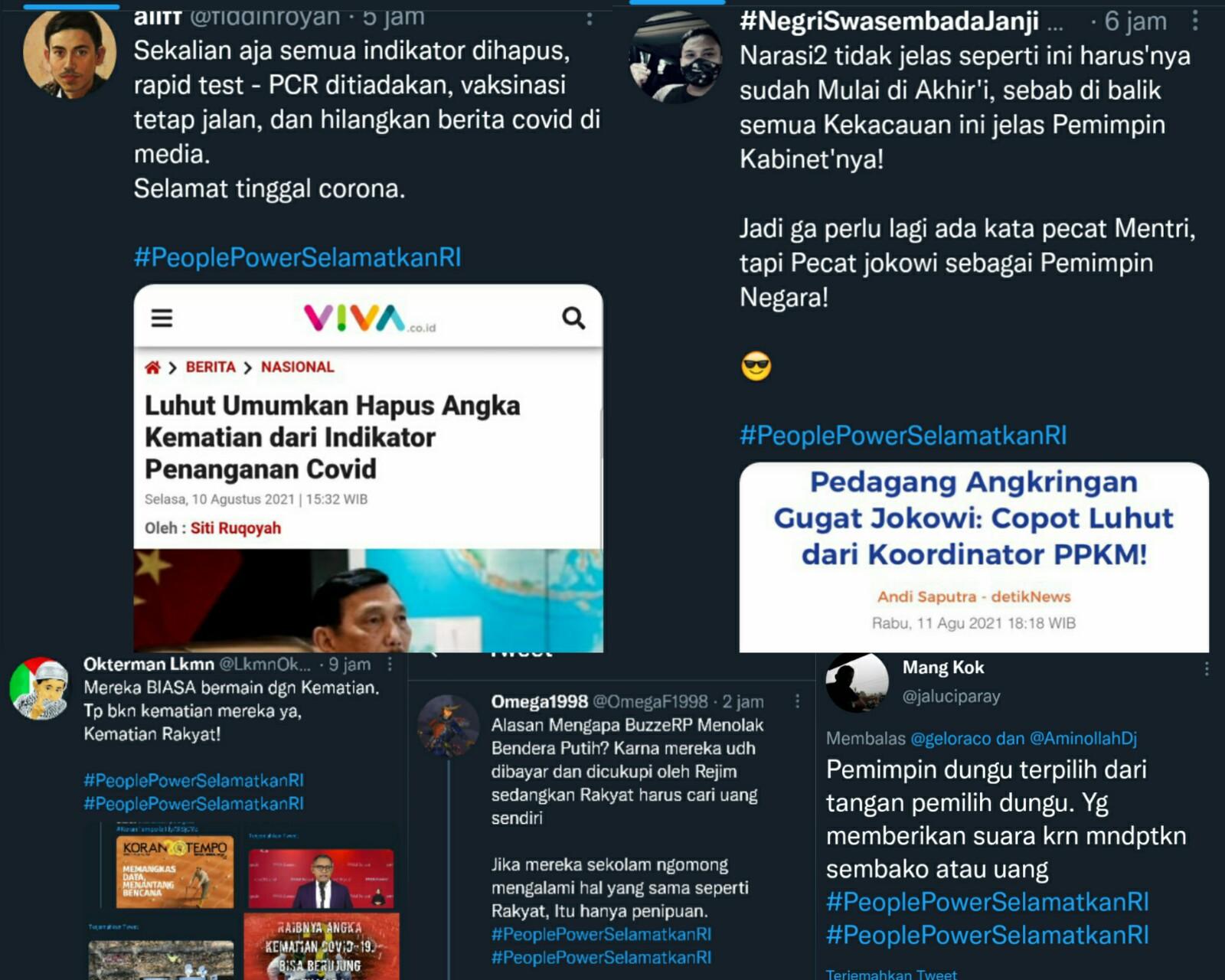 Netizen Serukan Pecat Jokowi Sebagai Pemimpin Negara, Tagar #PeoplePowerSelamatkanRI Trending